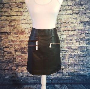 NWT Hudson Jeans Lamb Leather Mini Skirt